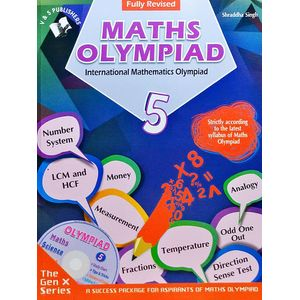 International Maths Olympiad Class 5 With Cd By Shraddha Singh-(English)