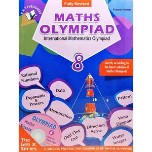 International Maths Olympiad Class 8 With Cd By Prasoon Kumar-(English)
