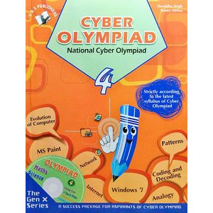National Cyber Olympiad Class 4 With Cd By Shraddha Singh, Bunny Mehra-(English)