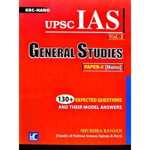 Kbc Nano Upsc Ias General Studies Paper 2 Volume 1 By Shubhra Ranjan-(English)