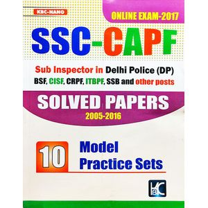 Kbc Nano Ssc Capf Solved Papers With Model Pratice Sets By Shyam Salona-(English)