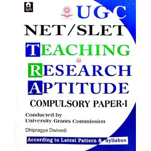 Ugc Net Slet Teaching & Research Aptitude Compulsory Paper 1 By Dhipragya Dwivedi-(English)