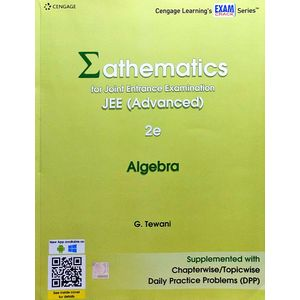 Mathematics For Joint Entrance Examination Jee Advanced Algebra By G Tewani-(English)