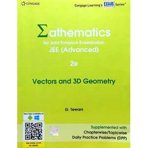 Mathematics For Joint Entrance Examination Jee Advanced Vectors & 3D Geometry By G Tewani-(English)