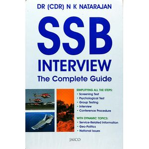 Ssb Interview The Complete Guide By Dr. N K Natarajan-(English)