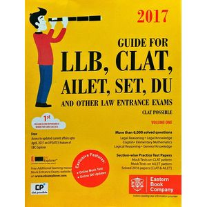 Guide For Llb, Clat, Ailet, Set, Du And Other Law Entrance Exams Vol 1,2 By Surabhi Modi Sahai-(English)
