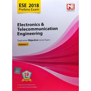 Made Easy Ese 2018 Prelim Electronics & Telecommunication Engineering Objective Solved Paper Volume 1 By Made Easy Experts-(English)