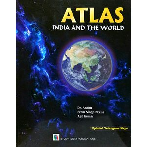 Atlas India And The World By Dr.Anshu, Prem Singh Meena, Ajit Kumar-(English)