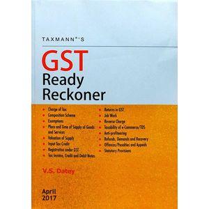 Gst Ready Reckoner By V S Datey-(English)