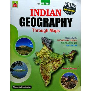 Indian Geography Through Maps By Pramod Sharma-(English)