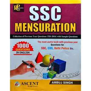 Ssc Mensuration Collection Of Previous Year Questions For Ssc, Cds, Delhi Police By Ambuj Singh-(English)