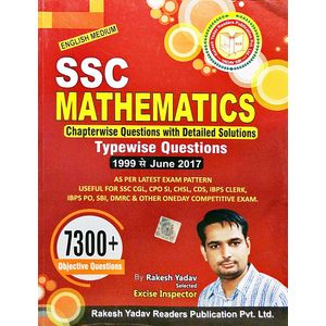Ssc Mathematics 7300+ Objective Questions By Rakesh Yadav-(English)