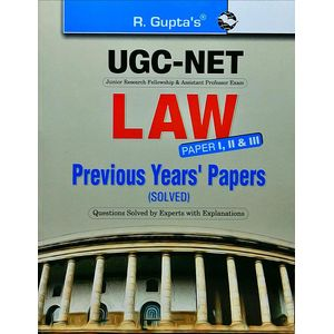 Cbse Ugc-Net Law Previous Years Paper 1,2,3 Papers Popular Master Guide By Rph Editorial Board-(English)