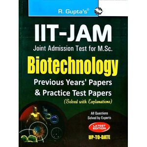 Iit-Jam M.Sc. Biotechnology Previous Papers & Practice Test Papers Solved By Rph Editorial Board-(English)