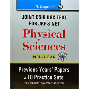 Joint Csir-Ugc Test For Jrf & Net Physical Sciences Part A,B,C Previous Years Papers By Rph Editorial Board-(English)