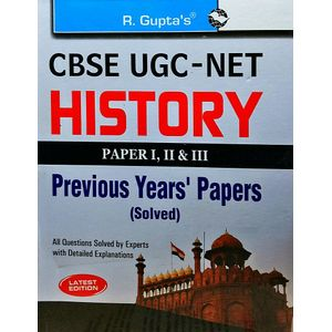 Cbse Ugc-Net History Previous Years Papers 1,2,3 By Rph Editorial Board-(English)