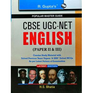 Cbse Ugc-Net/Set English Paper 2,3 Jrf & Asstt. Professor Exam Guide By H S Bhatia-(English)
