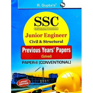 Ssc Junior Engineer Exam Civil & Structural Paper 2 Conventional Previous Years' Papers By Rph Editorial Board-(English)