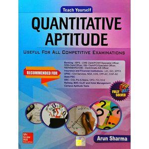 Teach Yourself Quantitative Aptitude By Arun Sharma-(English)