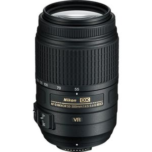 Nikon AF-S DX NIKKOR 55 - 300mm f/4.5-5.6G ED VR Lens (High Power Zoom Lens)