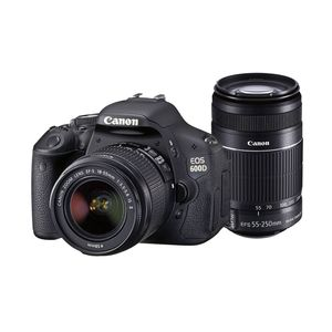 Canon EOS 600D DSLR Camera (Black, Body with EF-S 18-55 mm IS II & EF-S 55-250 mm IS II Lenses)