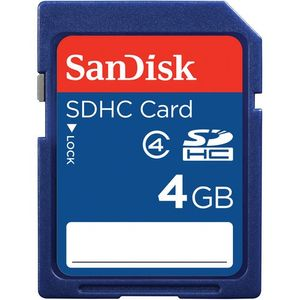 SanDisk 4GB SDHC Memory Card Class 4