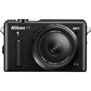 Nikon 1 AW1 Mirrorless Digital Camera with 11-27.5mm Lens (Black)