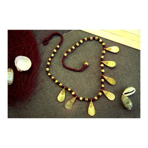 Hand-crafted Dokra - Tear Drop Neckpiece