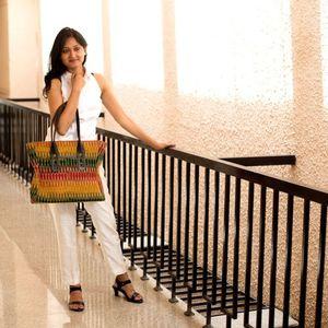 Multicolor Ikat Tote-Bag
