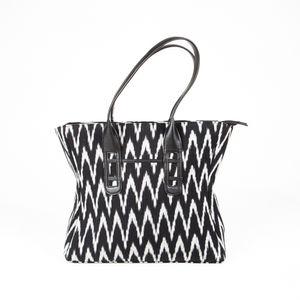Black & Grey Ikat Tote Bag (I)