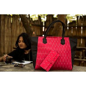 Pink with Black & White Patterns - Big Tote Bag