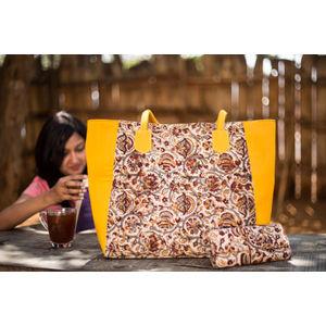 Yellow & Brown Kalamari Big Tote Bag