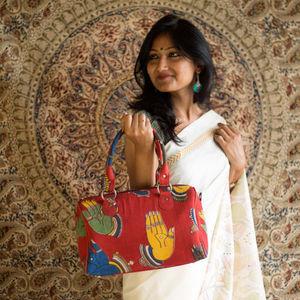 Mudra Kalamkari Duffle Bag