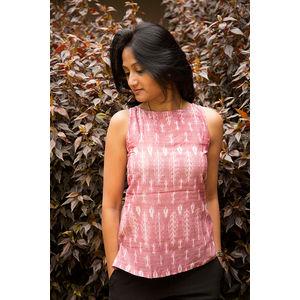 Pink Ikat Kurti-I