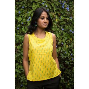 Yellow Ikat Kurti