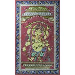 Ganesha - Colored Pattachitra Painting