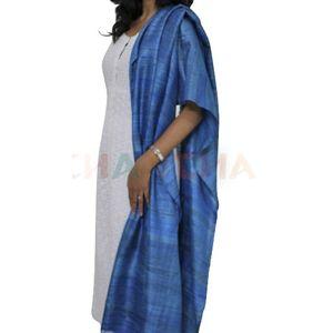 Blue Tussar Gheecha Silk Dupatta