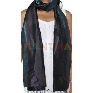 Black Silk Ikat Stole