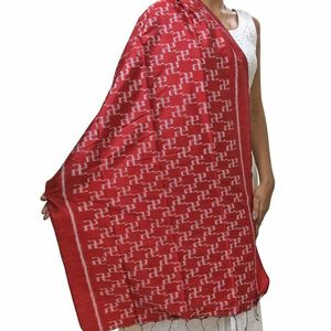 Red Silk Ikat Stole
