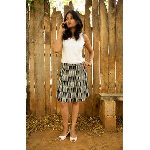 Grey Pleats Skirt