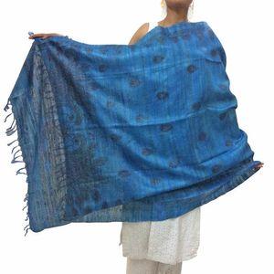 Blue Madhubani Dupatta
