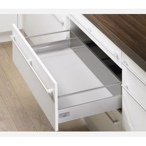 Hettich Tandem Box Pot and Pan with railing 144 mm 30 kg 520 mm Innotech