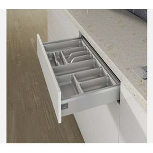 Hettich Orga Tray 400 Silver Trimmable for NL 500 mm depth cab with 900 mm
