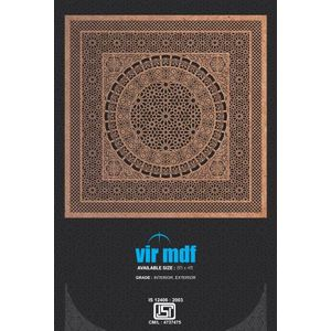 VIR | INTERIOR GRADE PLAIN MDF | 11 MM | Rs. 31.75 PSFT.