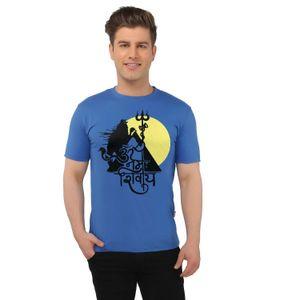 Om Namah Shivaya Spiritual Sky Blue T-shirt