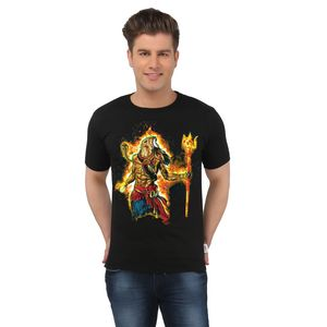 The Angry Shiva Spiritual Black T-shirt