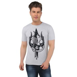 The Shiva Trishul Ecru Melange T-shirt
