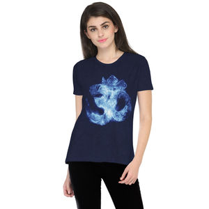 The Aum Printed Round Neck T-shirt for Women