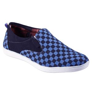 Blue Checkmate Converse Shoes