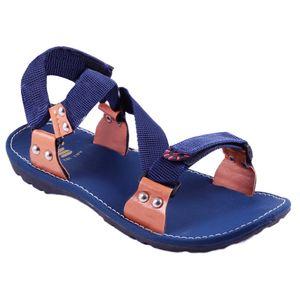 Blue Stylos Cross Sandals for Men